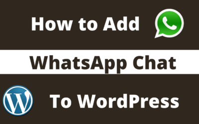 8 easy steps to Add WhatsApp Chat to WordPress Website | 2020