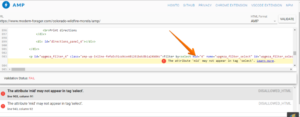 Disallowed attribute or attribute value present in HTML tag