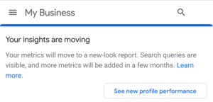 google my business insights moving